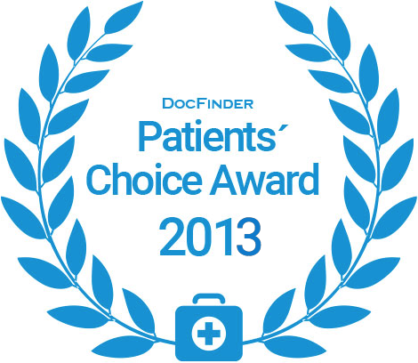 Docfinder Patients' Choice Award 2013
