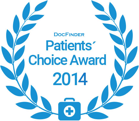 Docfinder Patients' Choice Award 2014